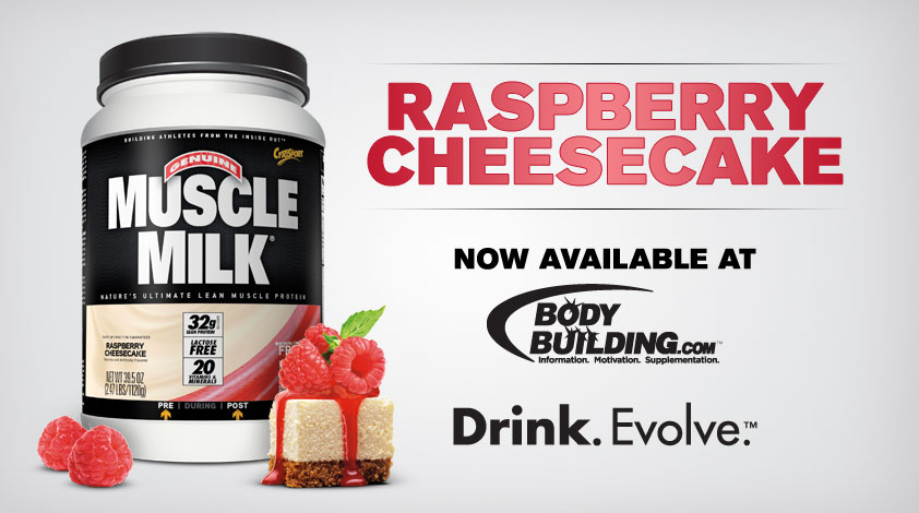 Muscle Milk Raspberry Cheesecake Site Header