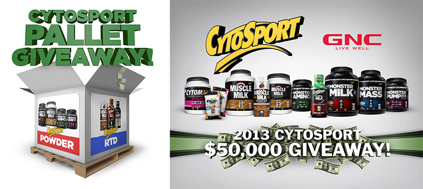 CytoSport giveaway presentation graphics