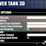 Hover Tank 3D (Options Menu)