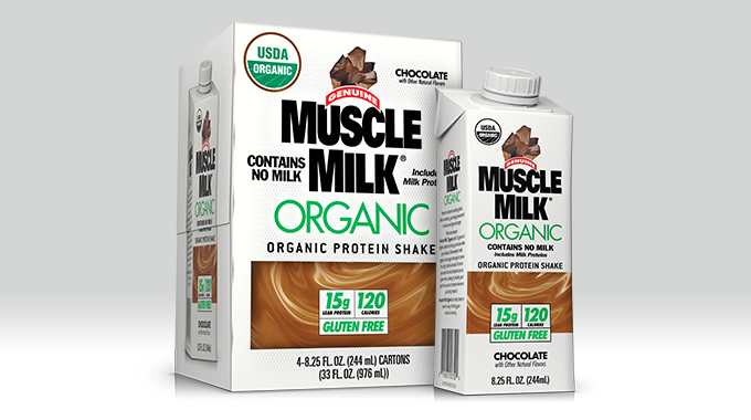 Muscle Milk Organic 244mL 4pk box & Edge TetraPak