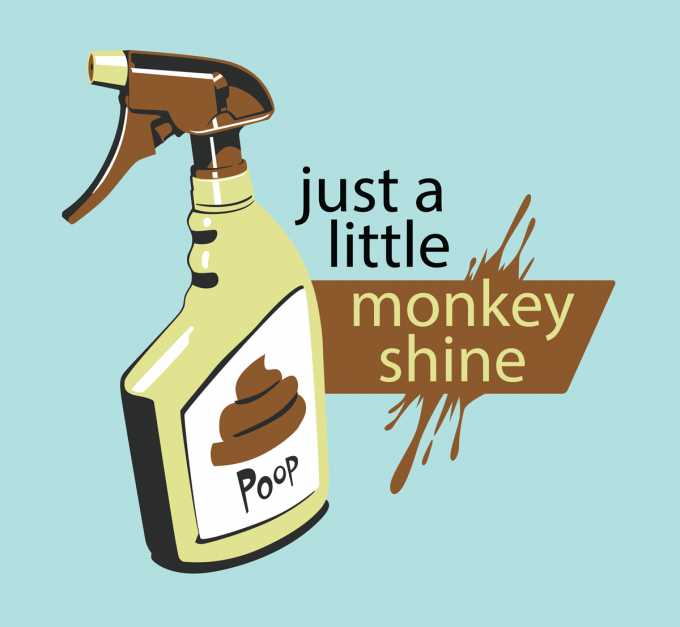 Monkey Shine spray graphic