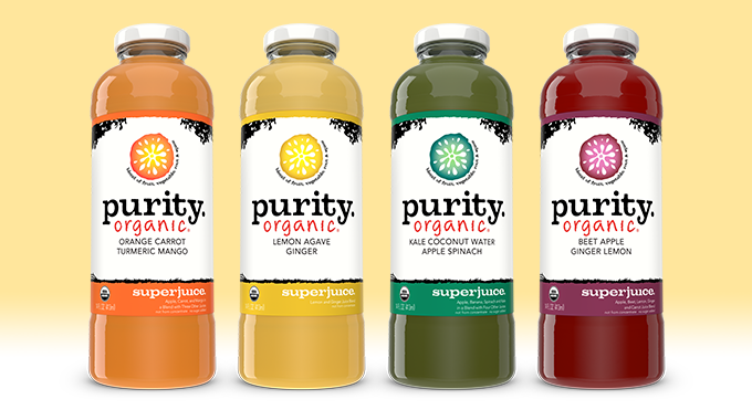 Purity Organic Superjuice 14oz lineup