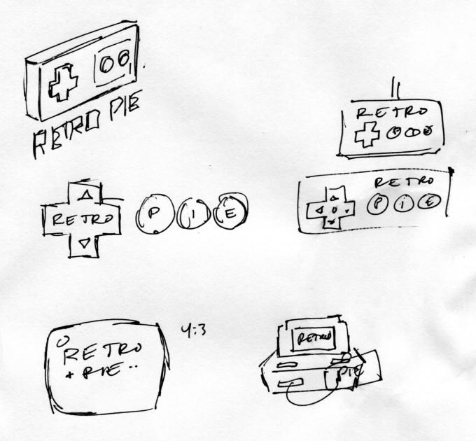 retropie-logo-sketches