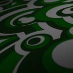 x1bg-3d-circles-dof-green-glitter