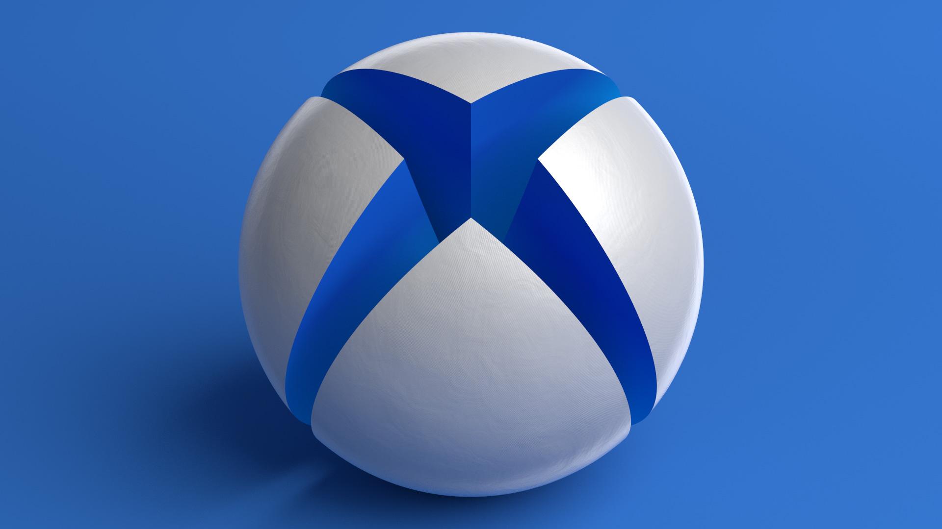 X1bg Giant Xbox Sphere Blue Martin Crownover